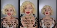 Selfie with Marilyn in Maldito Videopoetry Festival, Albacete, Spain